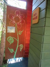 Outhouse for teepee (tipi)